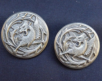 Large buttons Chinese dragons