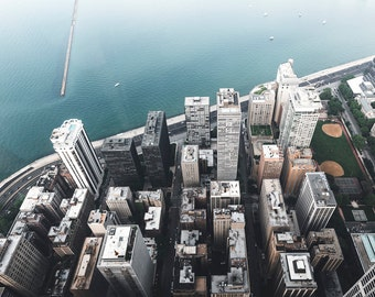 Chicago Photography Print - Lake Michigan & Streeterville