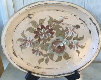 Vintage Towle Tray Pastel Floral