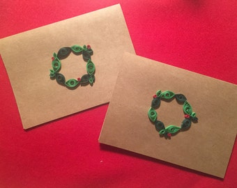 Quilled Christmas/Holiday Cards -- Individual