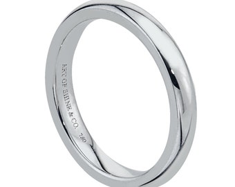 Wedding Band White Gold 18k