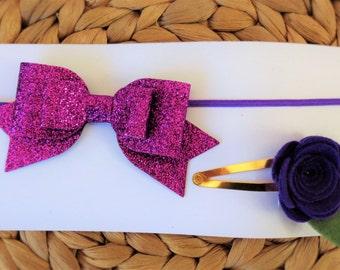 Hair Accessories Set - Purple