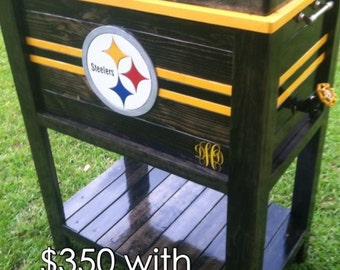 Wooden steelers Ice Chest Cooler