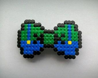 Hama Bead Luigi Hair Bow