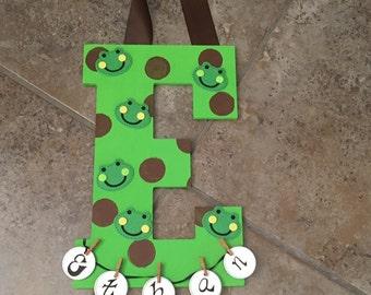 Personalized Frog Baby Door Hanger