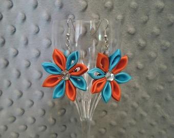 Vibrant Flower Earrings