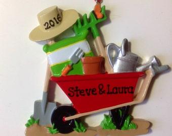 Gardening Personalized Christmas Ornament - Gardening Tools, Green Thumb, Neighbor, Gardener Gift