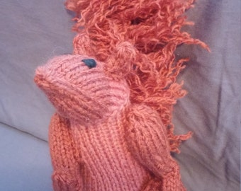 Knit stuffed animal squirrel