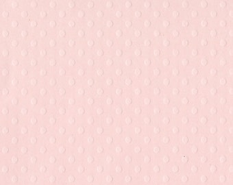 Bazzill Dotted Swiss 12 x 12 Cardstock, Sunset Rose