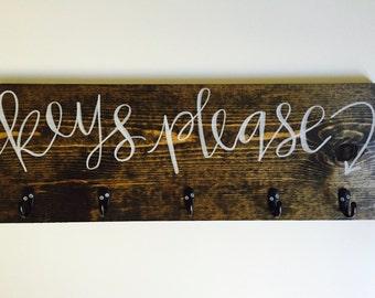Hook Board - 'Keys' Please'