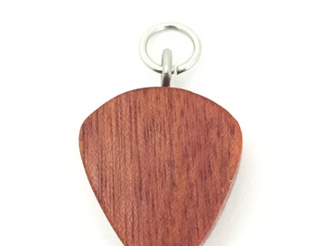 Bloodwood Guitar Pick Pendant