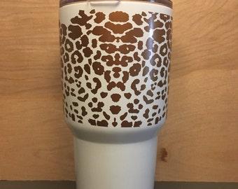 Leopard  yeti cup, yeti cup, Yeti, Yeti Tumbler, Yet Rambler, Personalized Yeti Cup