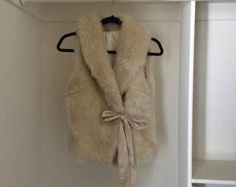 Faux Fur Vest size Small