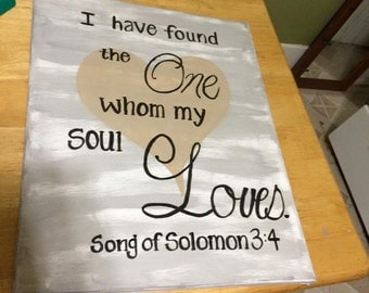 Song of Solomon canvas/decor/scripture/religious/home/gift/present/birthday/christmas/quote/wall art/art