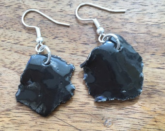 Black ceramic earrings