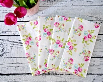 Floral Cloth Napkins, Dinner Party, Bridal Shower, Brunch, Mother's Day or Dinner Party Napkins