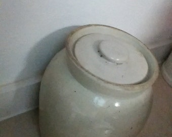 Antique pottery storage jar