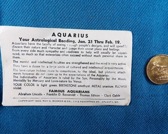 Aquarius Zodiac Vintage Good Luck Collectable Coins/Tokens (Not US Currency)