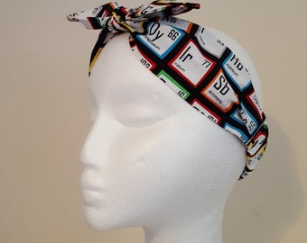 Big Bang Theory Science Elements Fabric Vintage Retro Handmade Hair Band Head Band Bandana Hair Tie Hair Accessories Heavens 2 Betsy
