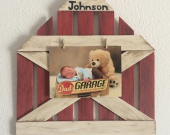 Rustic barn picture frame, barn clip board for pictures, Any size picture frame