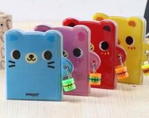 Cute Mini Bear Diary's with Lock (Blue)