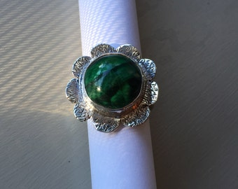 In Bloom Collection: Malachite Ring