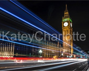 London Big Ben (02) Long Exposure A3 Gloss Print