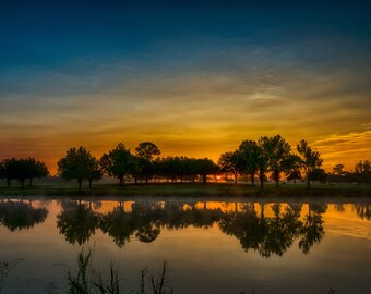 Lake sunrise, sunrise, lake photography, landscape photography, Texas sunrise, Texas Landscape, home decor, wall art