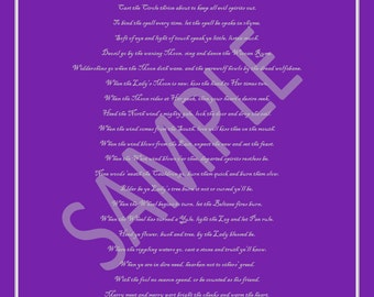 PRINTED Wiccan Rede Poster
