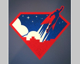 Superhero Flying 13×19 Print