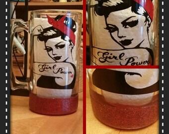 My Girl Power Sports Mug, us Girls also Drink Beer