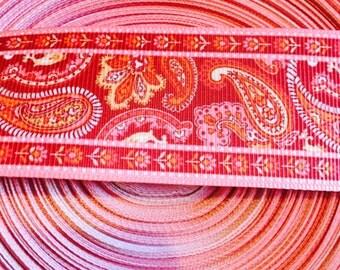 1.5 inch paisley ribbon