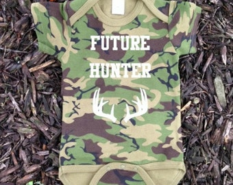 Baby Hunting Clothes - Camo Baby - Camo Baby Clothes - Hunting Baby Boy - Hunting Baby - Baby Boy Clothes - Future Hunter Design