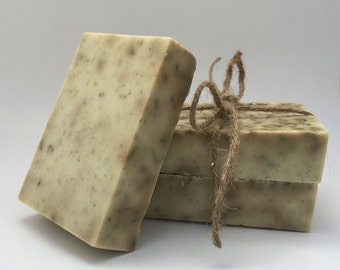 Lavender, Oatmeal, & Chamomile Handmade Bar Soap