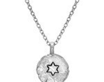 Star of David Stamped on Pendant- HWN3C
