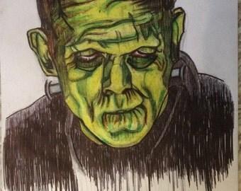Frankenstein, Gothic, Art, Horror, Industrial, Punk, Macabre, Halloween, Mary Shelley, Dark, Steampunk