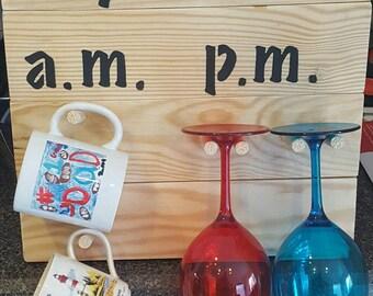 unique wine glass and mug holder