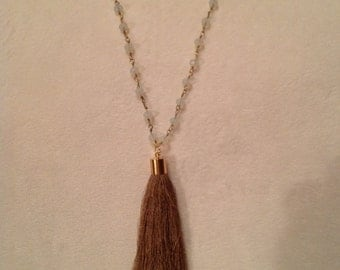 Beaded Necklace With Tassel