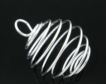"""2 trailer """"Cage"""" - 29 * 24 mm - silver plated / H1-0578"""