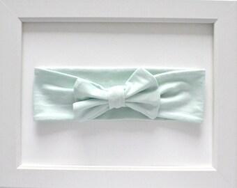 Mint Green Head Bow/Baby Bow/Baby Head Bow/Bow/Headband/Knotted Headband/Newborn Headband/Toddler Headband/Baby Headband/Baby Shower Gift