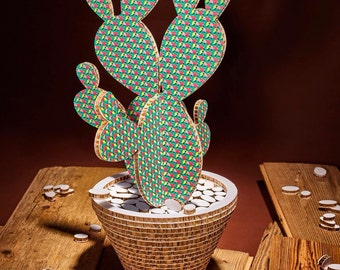 Cactus Camaleo pattern Pink