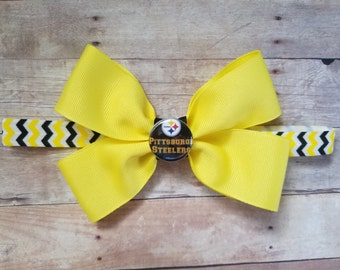 pittsburgh steelers headband-pittsburgh Steelers bow headband-steelers for baby girl-pittsburgh steelers for baby girl-steelers bow
