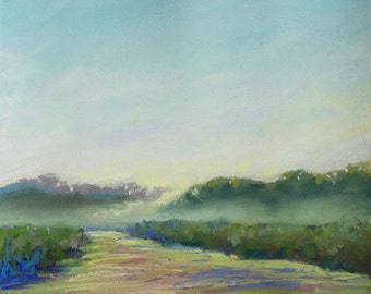 "Original Pastel Painting ""A Path to the Mountains"""