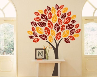 Vinyl Sticker Autumn Tree