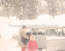 Little girl in the snow - July 1964 35mm slides Photograph Digital Download