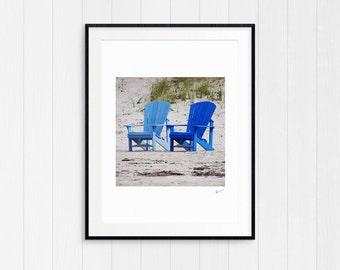 Cottage Beach Photography, Coastal Beach Decor, Nautical Wall Art Print, Printable Photo, Instant Digital Download, Modern Minimalist