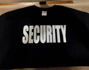 Security Shirt GLOW in the DARK! Brand New!