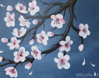 Cherry Blossoms Canvas Painting