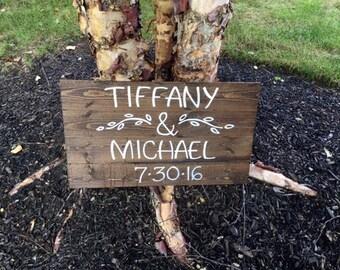 Custom Wedding Sign, Wedding Decor, Wood Slatted Sign, Wood Sign