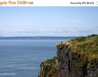 ALL ON SALE Ocean photography, Cape Split, Nova Scotia, Bay of Fundy, summer, hike, seagull, rocks, nature photography, wall art, print, nat